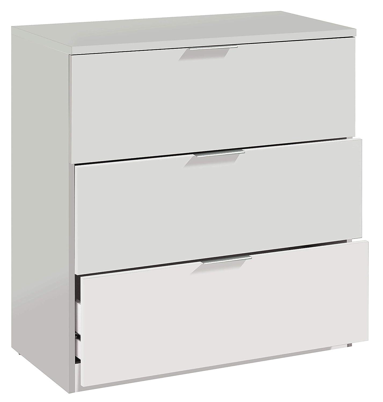 CAPALDO Kit cajonera cómoda 3 C CM.80 x 38 x 77 Blanco: Amazon.es ...