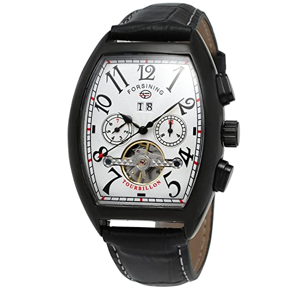 forsining Hombre Steampunk AutomáTico Tourbillon Reloj de Muñeca Calendario fsg9409 m3b2: Amazon.es: Relojes