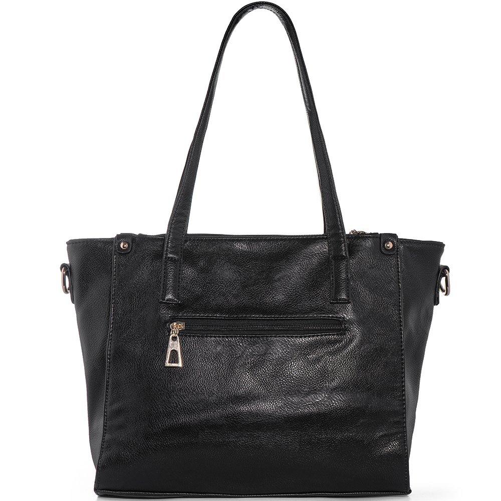 c0b457a058bb WISHESGEM Women Fashion Handbags Top-Handle Shoulder Bags PU Leather Tote  Bags Crossbody Purse