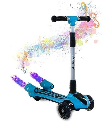 Airel Patinete 3 Ruedas | Scooter para Niños Plegable | Scooter para Niños con Música y