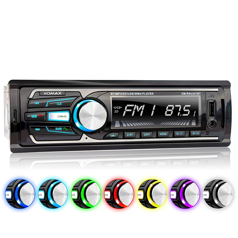 XOMAX XM RSUBT Autoradio DIN single DIN Tamaño de montaje estándar