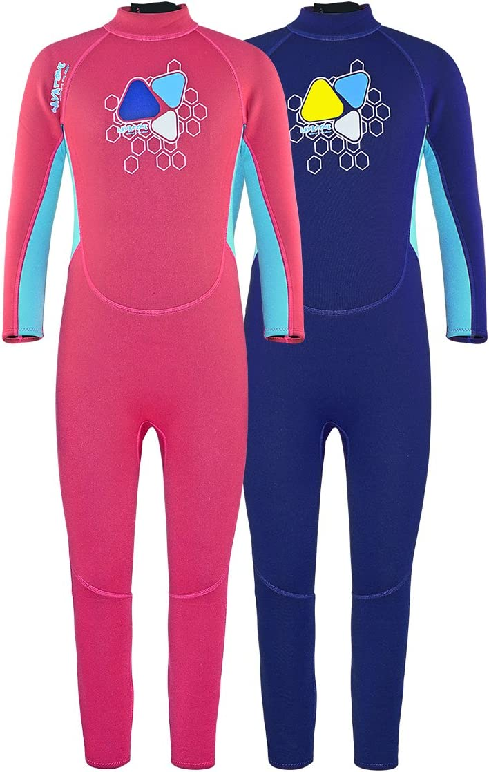 Layatone Wetsuit Kids 2mm Neoprene Suit Diving Suit Children Full Suits Girl Boy Thermal One Piece Swimsuit Kids Scuba Wet Suit Toddlers Water Suits Kids