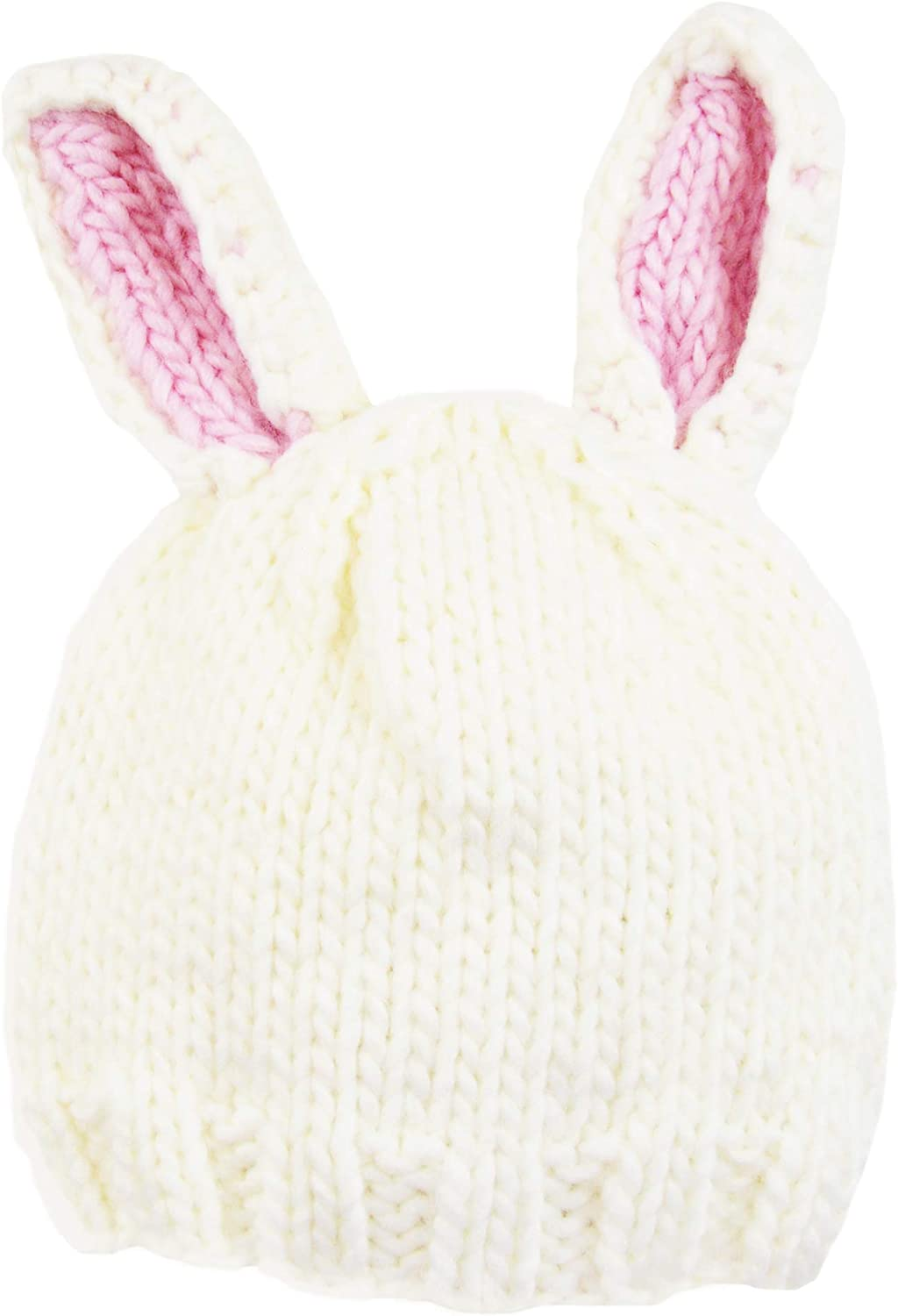 White with Pink Ears The Blueberry Hill Bailey Bunny Hat