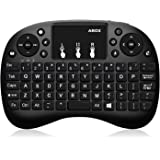 Mini Keyboard, ABOX i9 2.4GHz Multi-media Wireless Handheld Mini Keyboard with Multi-finger function Touchpad Mouse for XBox 360, PC, PAD, PS3, Google Android TV Box, HTPC, IPTV(UK Layout)