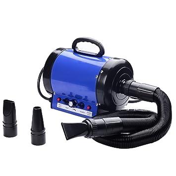 Secador de pelo profesional para perros o gatos, 2400 W azul: Amazon.es: Grandes electrodomésticos