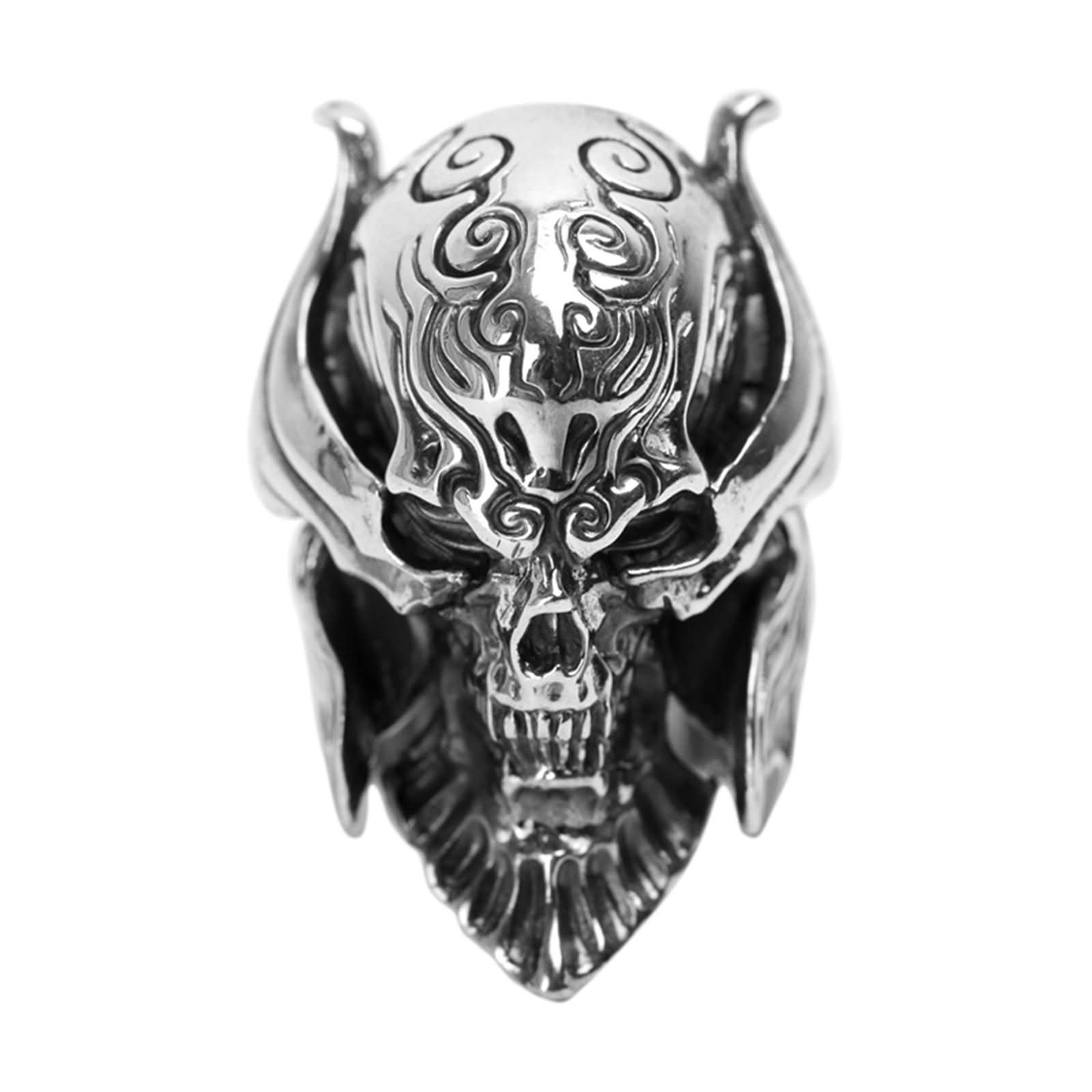 Bishilin Men's Rings Silver Plated Skull Friendship Rings Silver Size 12.5