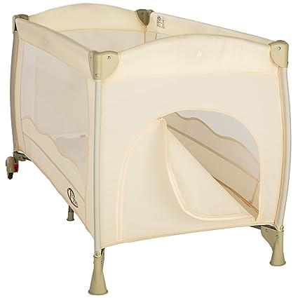 TecTake Lit parapluie pliant avec sac de transport et sur roulettes beige   Amazon.fr  Bébés   Puériculture 8055630fe67