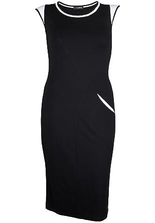 Doris Streich Damen Jerseykleid mit Kontrastdetails große Größen ... 75b96c34b5