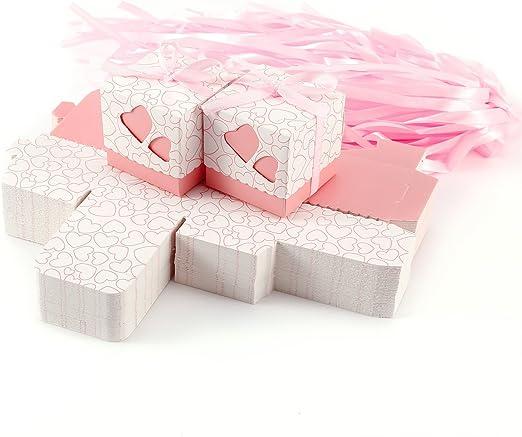 Set de 100 Cajas para dulces bombones Cajitas de boda regalo Caja ...