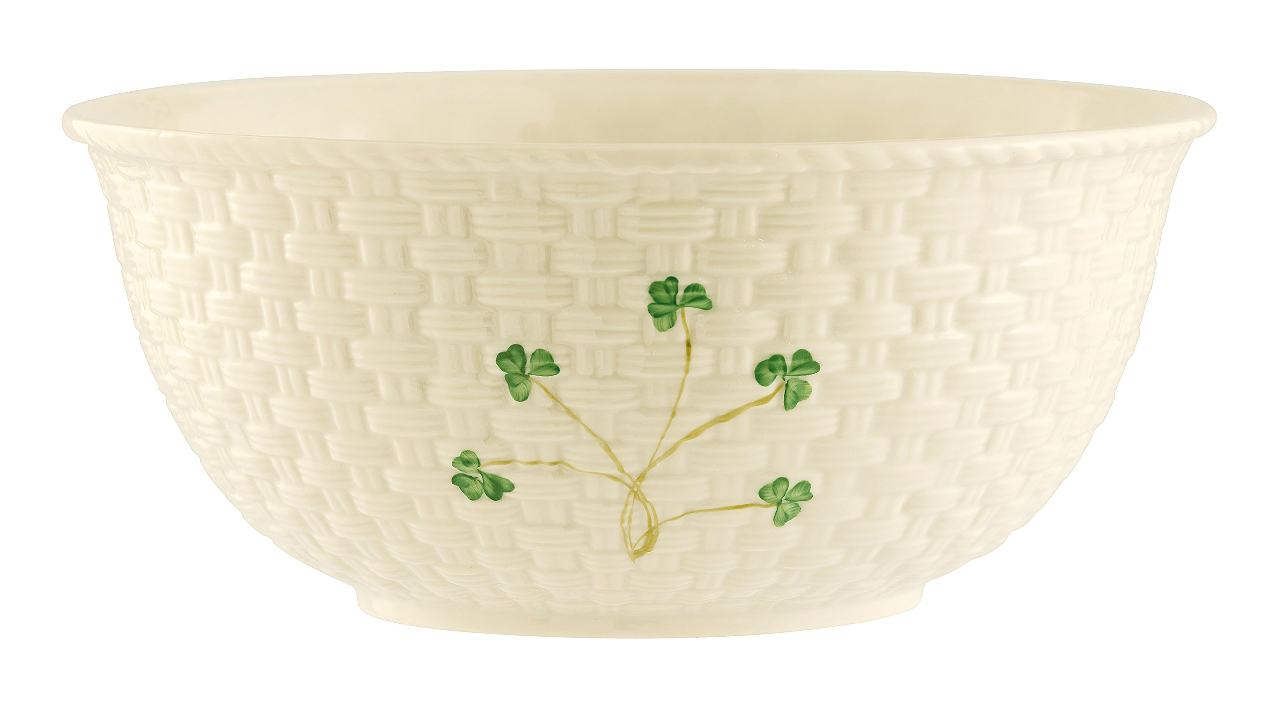 Belleek Group 1316 Shamrock Mixing Bowl, 9.5-Inch, White by Belleek Group