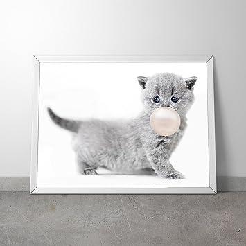 Lustige Tiere Mit Kaugummi Kinderzimmer Babyzimmer Poster