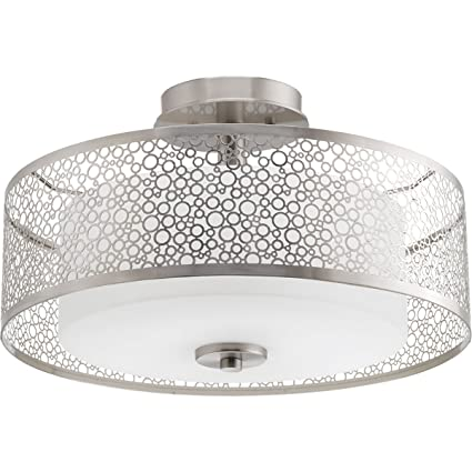 Amazon.com: Progress iluminación p3565 Mingle Semi-Flush ...