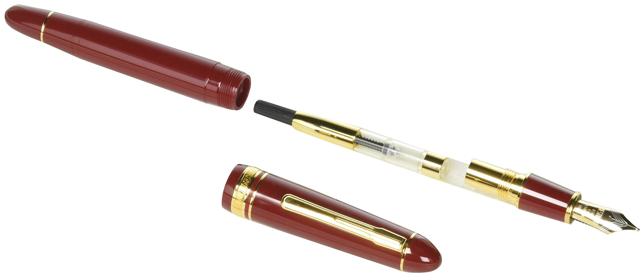 Platinum Fountain Pen President #10 Burgundy and Gold- PTB20000P - B by Platinum (Image #2)