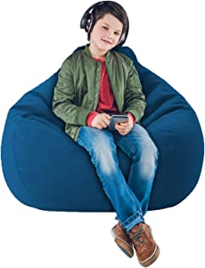 IZvs53C [No Filler] Soft Bean Bags Sofa Chairs Cover for Adults.Teens and Kids Indoor Outdoor, Memory Foam Furniture for Garden Lounge Dorm