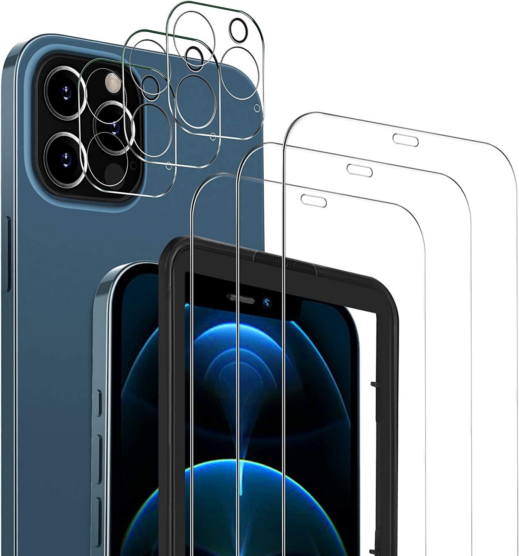 Msova 3 Stück Panzerglas Kompatibel Mit Iphone 12 Pro Elektronik