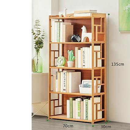JXBOOS BookshelfRacks Simple Modern Bamboo Multi Layer Landed Student Bookcase Childrens Storage Rack