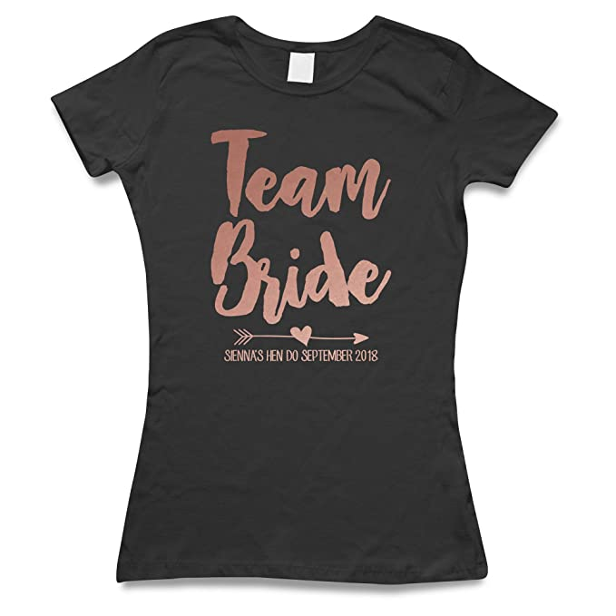 Rose Gold The Hen Party T-Shirts Custom Printed T Shirt Personalised Women/'s Top
