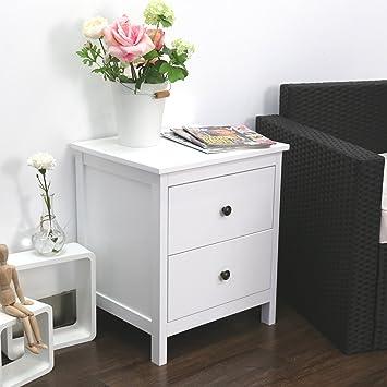 Amazon.com: Kinbor Bedroom furniture Black Night Stand Table with ...