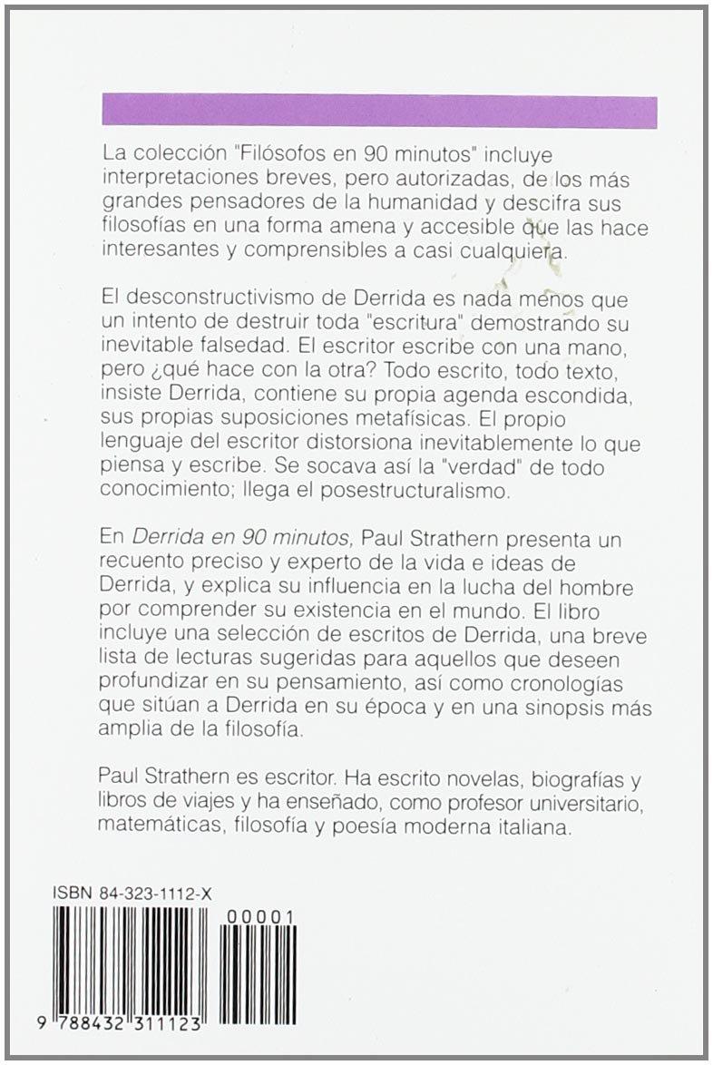 Derrida en 90 minutos (Spanish Edition): Paul Strathern ...