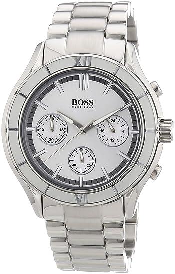 Hugo Boss - Reloj para mujer de acero inoxidable Resistente al agua plata: Amazon.es: Relojes