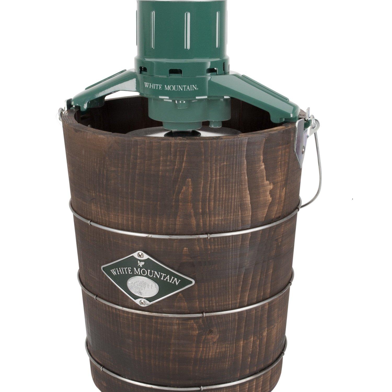 White Mountain PBWMIME412 4 quart Electric Wood Tub Ice Cream Maker, Brown