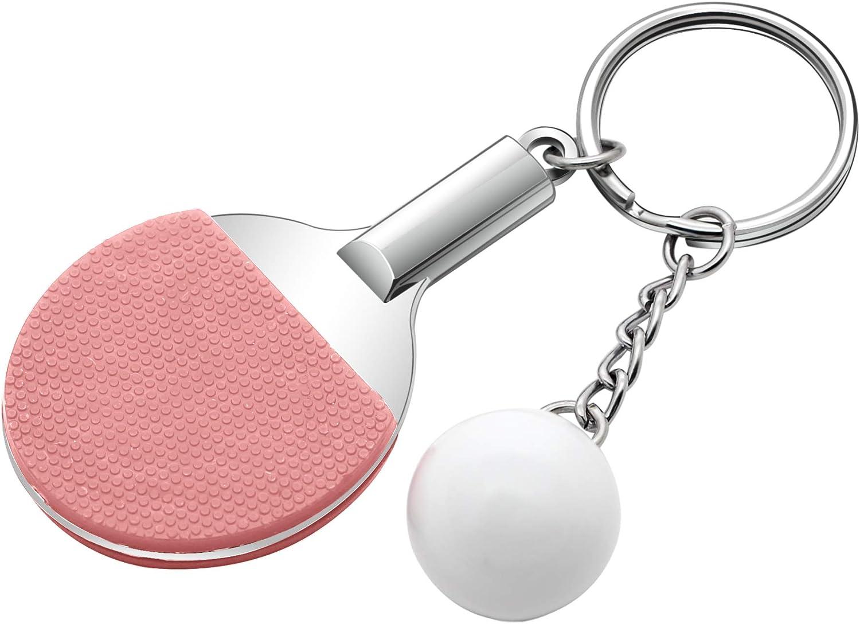 Angelra Mini Ping-Pong Ball Llavero Colgante Deporte Coche para Mujeres Hombres