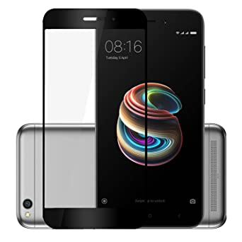 Hupshy Edge to Edge Tempered Glass Screen Guard for Redmi 5A | Black  FTG04  Screen guards
