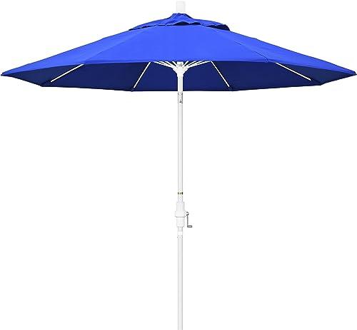 California Umbrella GSCUF908170-5401 9' Round Aluminum Pole Fiberglass Rib Market Patio Umbrella