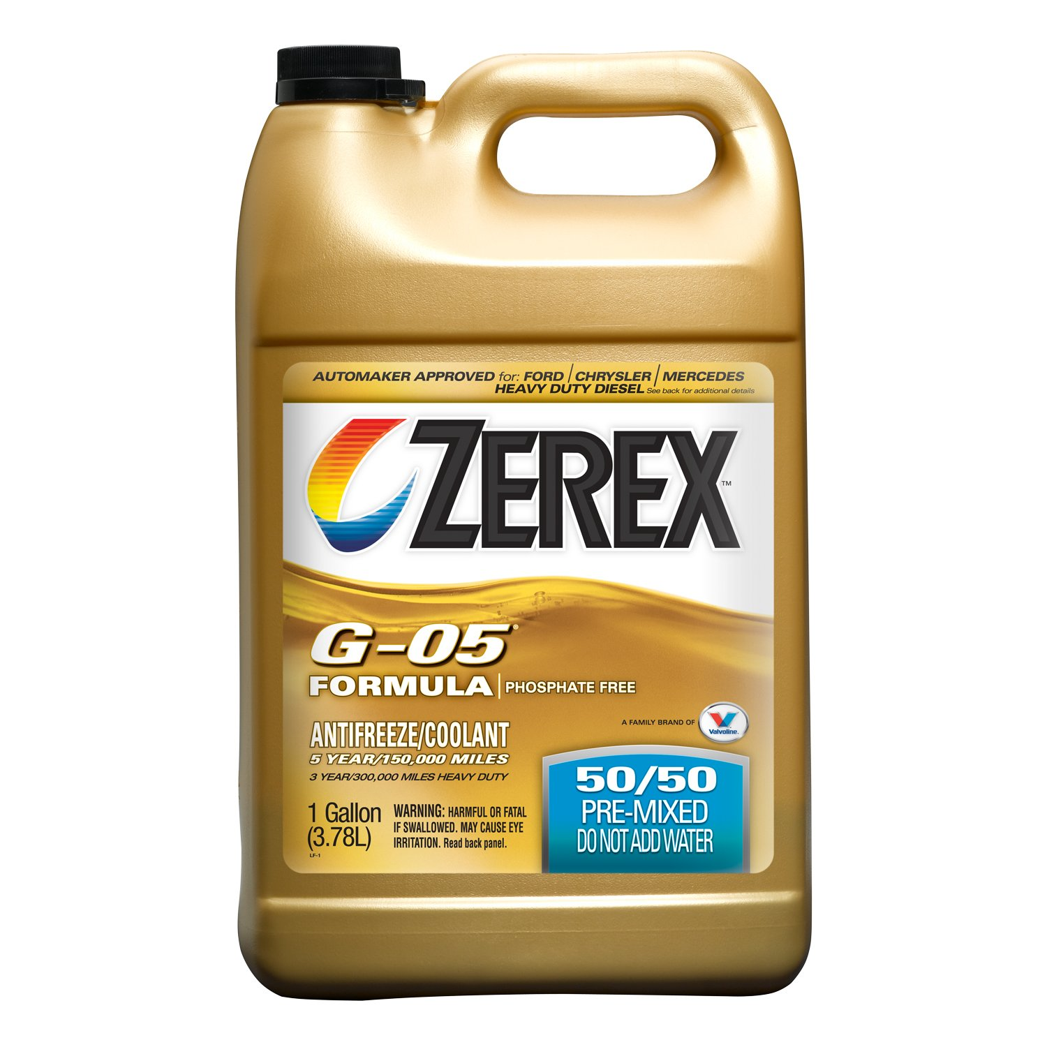 Valvoline Zerex G-05 Antifreeze/Coolant, Ready to Use - 1gal (ZXG05RU1)