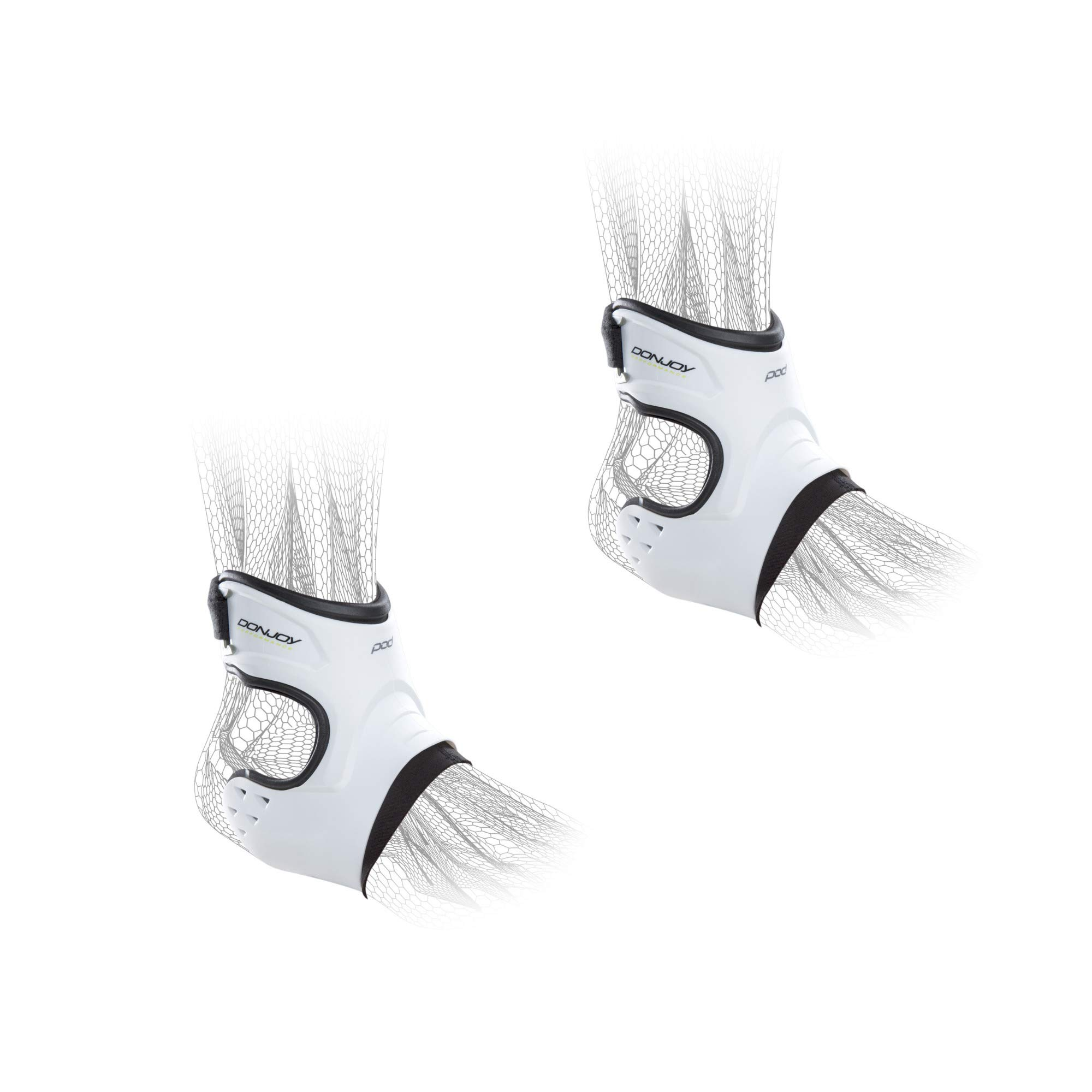 DonJoy Performance POD Ankle Brace Pair - Right and Left - White - Medium - Value Bundle