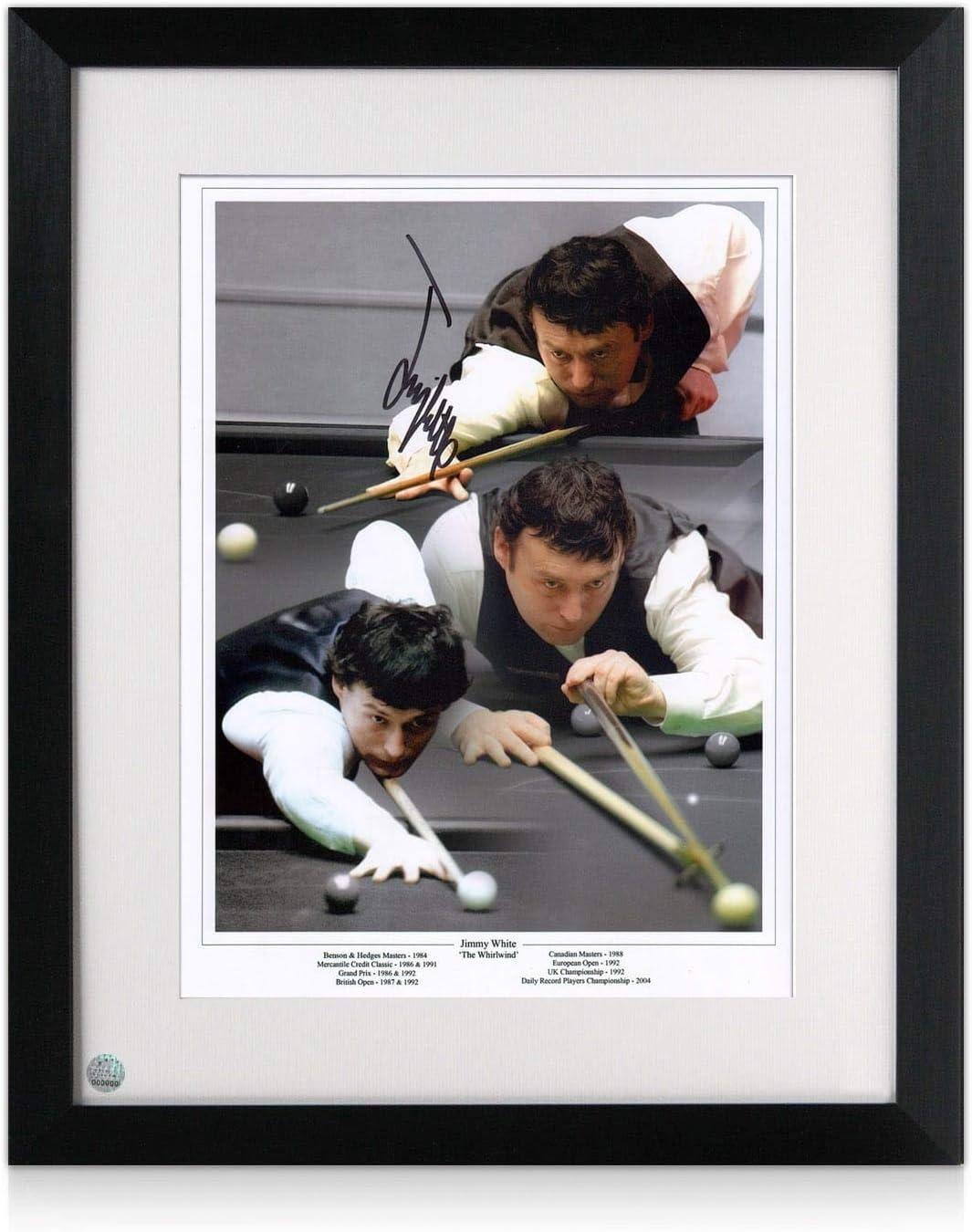 Exclusive Memorabilia - Montura para Snooker firmada con Marco de Jimmy: Amazon.es: Deportes y aire libre
