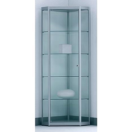Inside vetrina ad angolo per 5 - 4 ripiani, con specchio anta ...