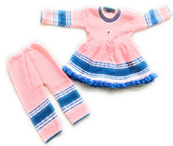 2688850e5 New Jain Traders - Woolen Knitted Frock   Pajami (2Pcs Suit) for Baby Girls  (6-12 Months