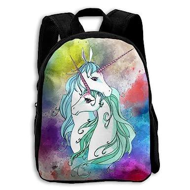 Amazon Com Cmjjjr4 Two Lovely Unicorns 3d Kids Customized Backpack
