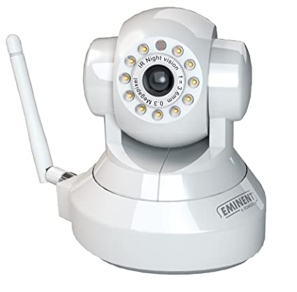 Eminent e-Domotica - Cámara IP de vigilancia por internet giratoria: Amazon.es: Informática