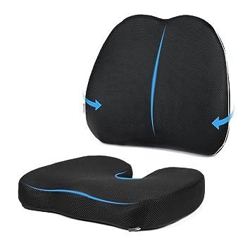 MonTrüe Cojin Ortopedicos Lumbar & Cojines para sillas | Cojin Ergonomico de Espuma con Memoria,