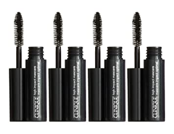 Lot Of 4X Clinique High Impact Mascara 01 black 0.14oz each totol 0.56oz