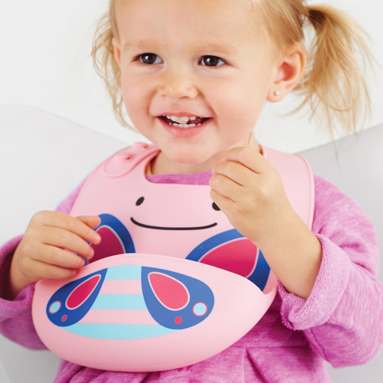 Skip Hop Zoo Silicone bavoir-Licorne Toddler Feeding BN