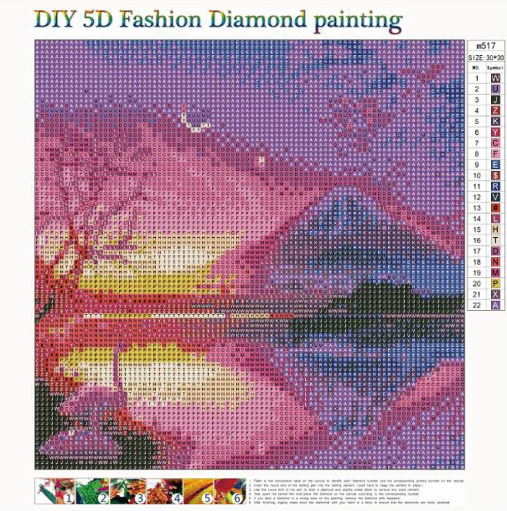 MXJSUA 5D DIY Diamond Painting Kit by Number Full Drill Round Beads Crystal Rhinestone Embroidery Cross Stitch Picture Supplies Arts Craft Wall Sticker Decor 12x12In Pink Snow Mountain