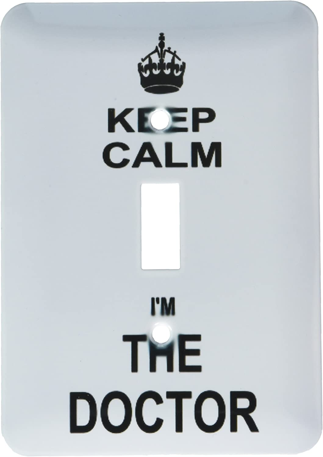 3drose Lsp 194475 1 Keep Calm I Am The Doctor Dr And Proud Fun Humorous Funny Humor Im Light Switch Cover Amazon Com