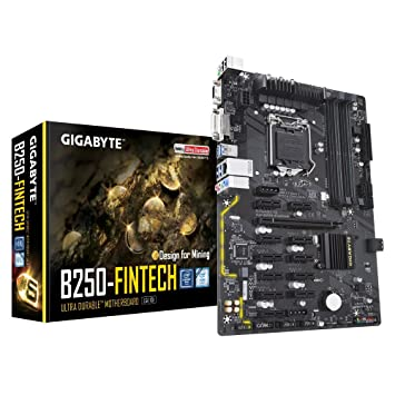 GIGABYTE GA-B250-FinTech LGA 1151 Intel B250 Mining Motherboard For 6th and 7th Gen CPU Motherboards at amazon
