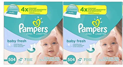 Pampers Fresh Water Water Baby Wipes 14X Refill Packs, 72 Count each
