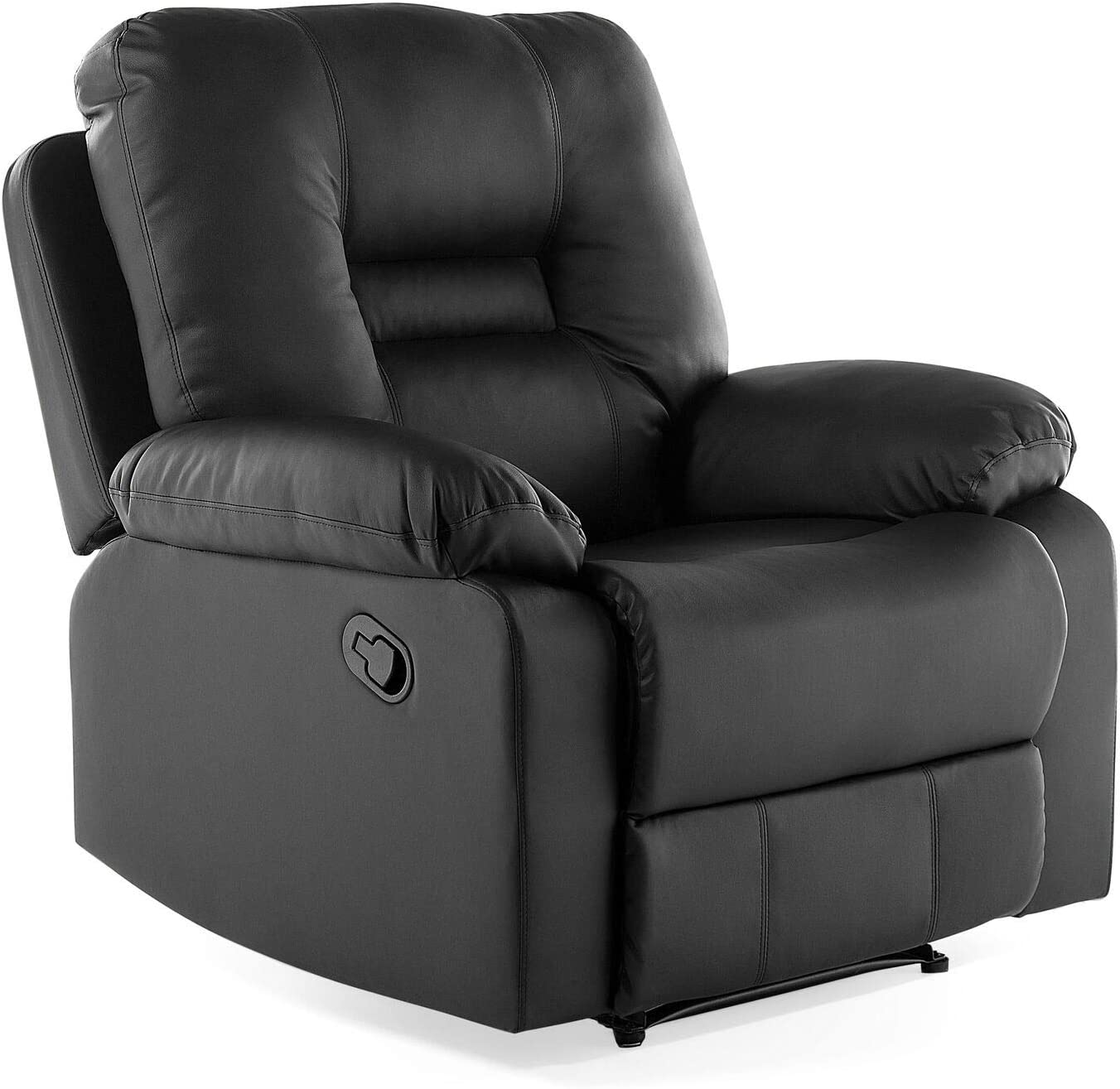 Modern Faux Leather Recliner Chair Manual Reclining Padded