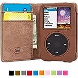 iPod Classic Hülle, Snugg Apple iPod Classic Handyhülle mit Kartenfach und Standfunktion - Braun Leder , Legacy Range