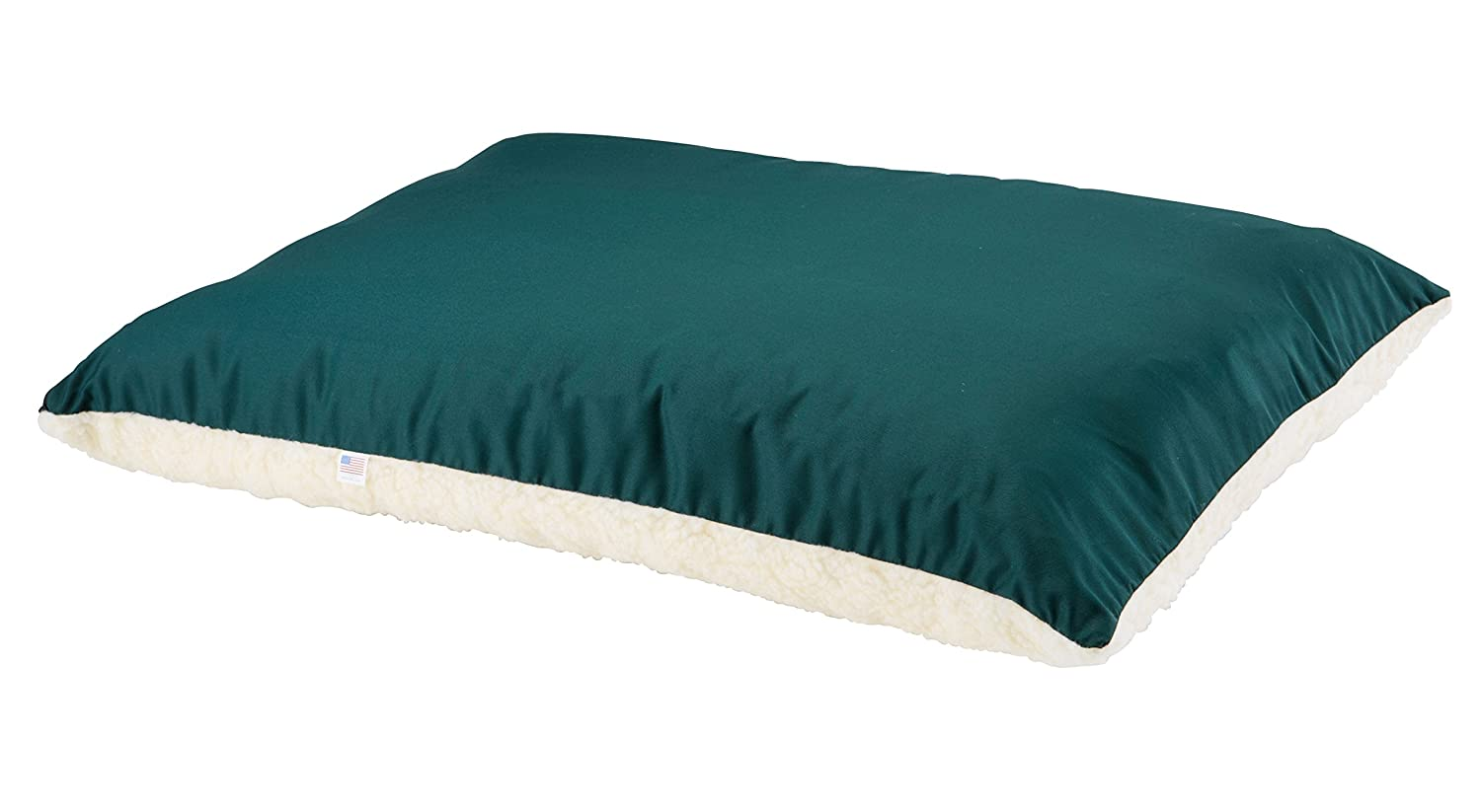 Great State Pet Dual Comfort Bed for Pets, 26 by 34-Inch, Green