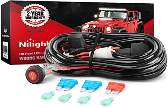 [SCHEMATICS_4FR]  Amazon.com: Nilight LED Light Bar Wiring Harness Kit 12V On Off Switch  Power Relay Blade Fuse for Off Road Lights LED Work Light,2 years Warranty:  Automotive | Led Light Bar Wiring Diagram For Truck |  | Amazon.com