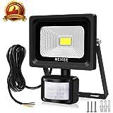 MK Faretto LED esterno 10W, Proiettore LED con sensore di movimento, PIR Lampada LED, Impermeabile IP66 faro led, Illuminazione bianco freddo 6000K 1000LM