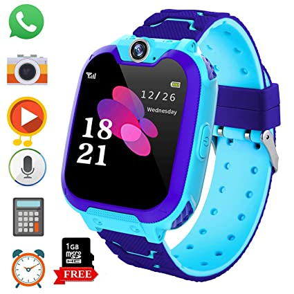 Kids Game Smart Watch Phone for Students, Girls Boys Touch Screen Smartwatch with MP3 Play SOS Camera Game Alarm Clock, Childrens Gift Back to School ...