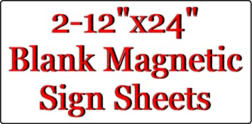 """2 x 18/"""" x 12/"""" Sheet flexible 30 mil Magnet Blank RED Magnetic sign"""