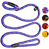 Coolrunner Dog Rope Leash, 5 FT Pet Slip Lead, Dog Training Leash, Standard Adjustable Pet Nylon Leash for Small Medium…